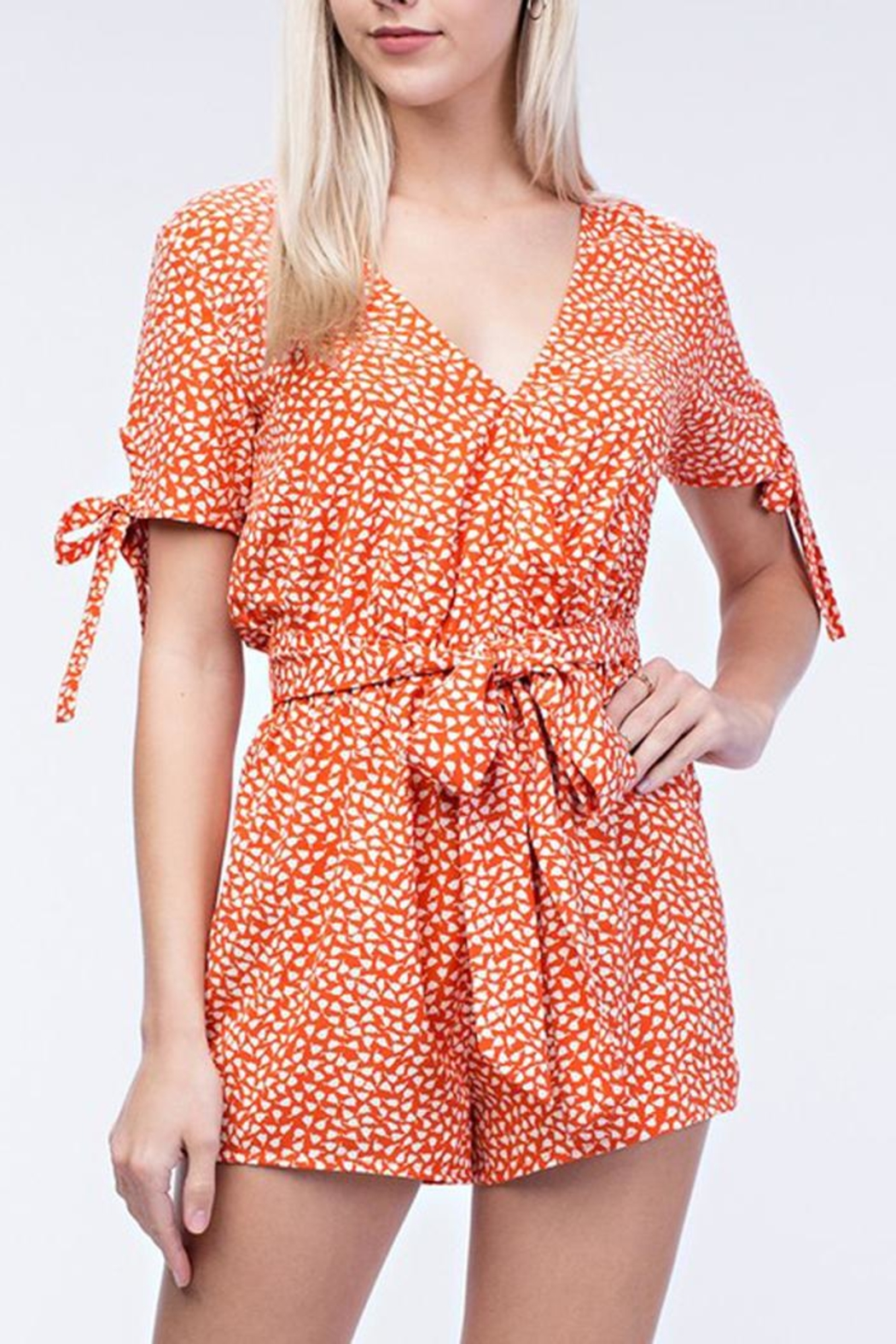 Honey Punch Sweet Dandelion Romper - Front Full Image