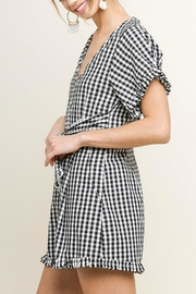 Umgee USA Sweet Gingham Romper - Front full body