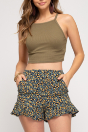 She and Sky Sweet in Floral shorts - Product Mini Image