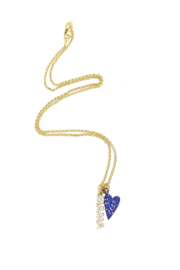 Love, Lisa Sweet Inspirational Message Necklace - Front cropped