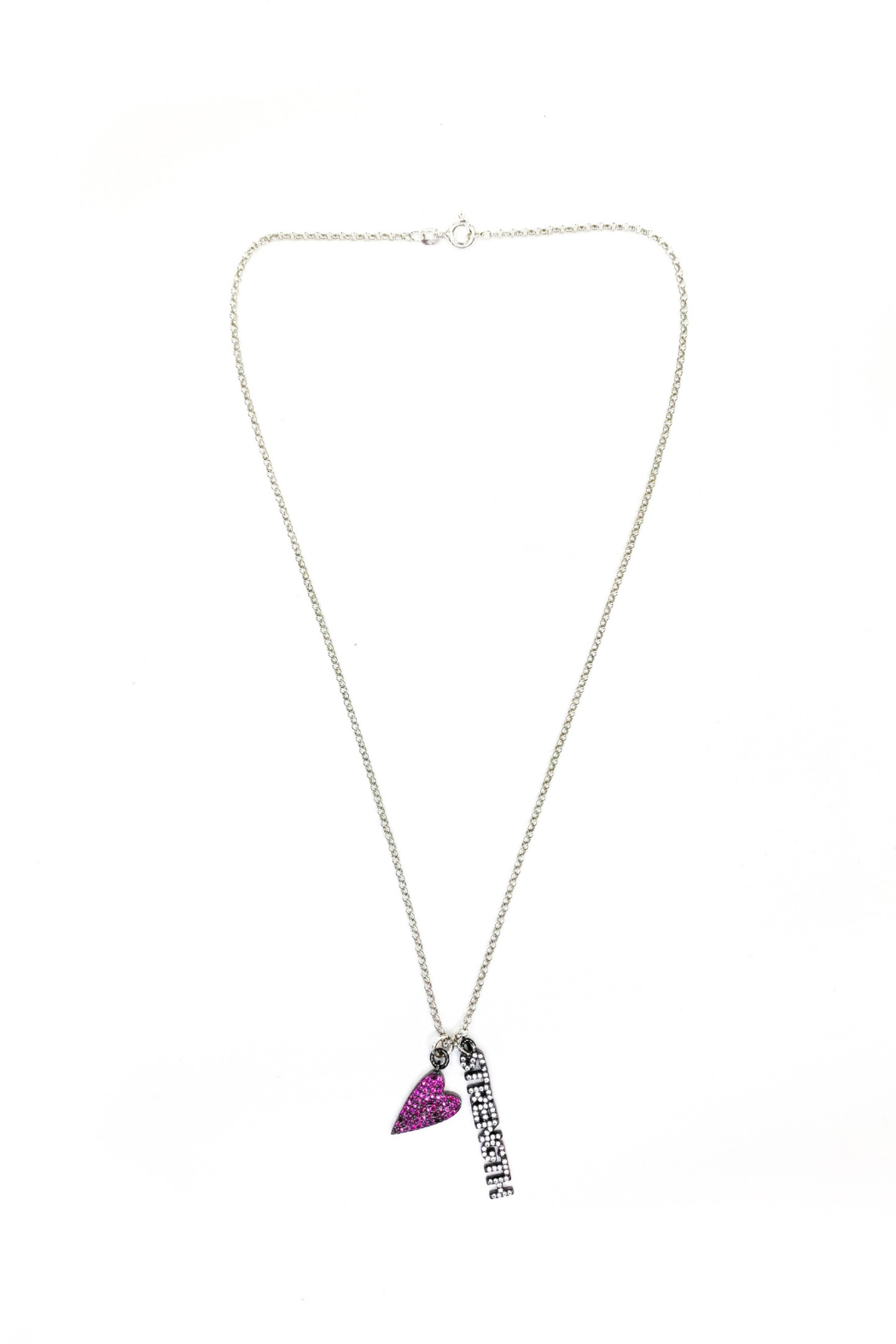 Love, Lisa Sweet Inspirational Message Necklace - Front Cropped Image