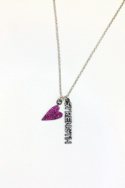 Love, Lisa Sweet Inspirational Message Necklace - Front full body