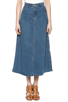 Shoptiques Product: Casual Denim Maxi Skrt