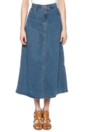 Sweet Jeans Casual Denim Maxi Skrt - Front cropped