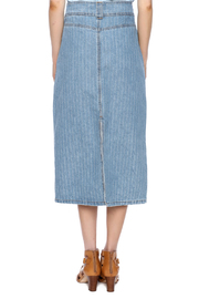 Sweet Jeans Pin Stripe Midi Skirt - Back cropped