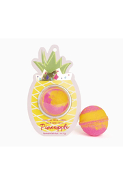Cait + Co Sweet Like A Pineapple Bath Bomb - Pineapple & Coconut - Front cropped