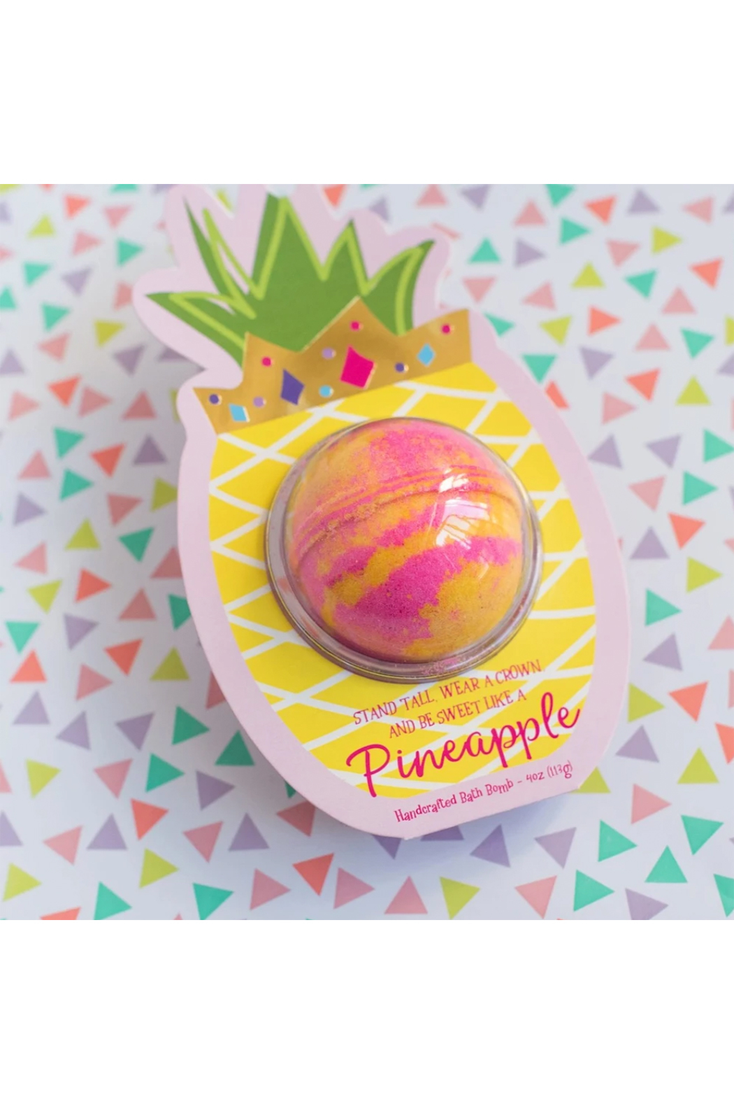 Cait + Co Sweet Like A Pineapple Bath Bomb - Pineapple & Coconut - Front Full Image