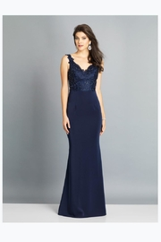 Dave and Johnny Sweet Navy Gown - Product Mini Image