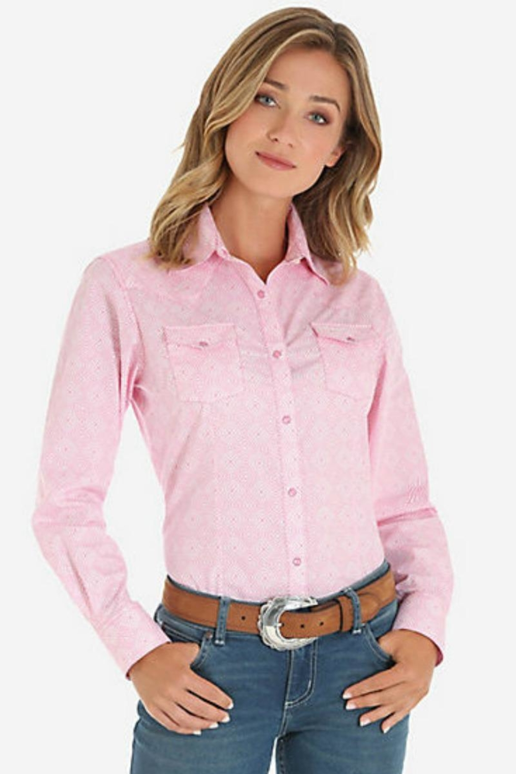 Wrangler Sweet Pink Snap-Up - Main Image