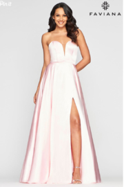 Faviana Sweet Satin Ballgown - Back cropped