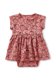 Tea Collection  Sweet Sightings Baby Dress - Strawberries - Product Mini Image