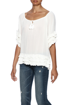 Sweet Sinammon Ruffled Peasant Top - Product List Image