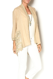 Sweet Sinammon Summer Crochet Cardigan - Front cropped