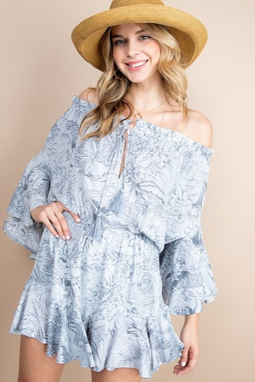 Blue B Sweet Summer Romper - Front Cropped Image