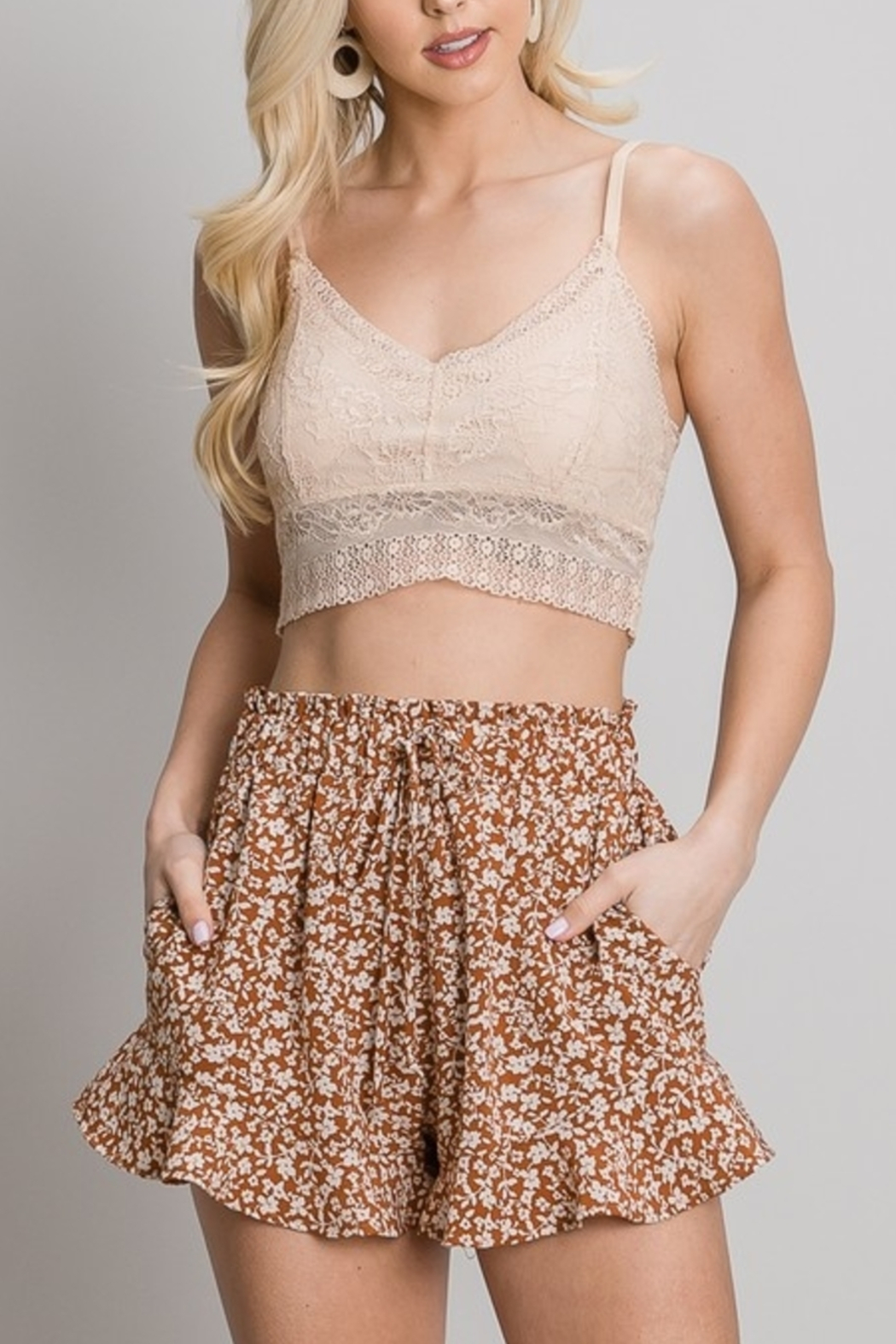 AP3316 Sweet Summertime shorts - Front Cropped Image