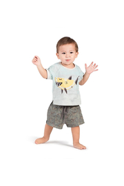 Paper Wings Sweet Tooth Cuff T-Shirt - Front full body