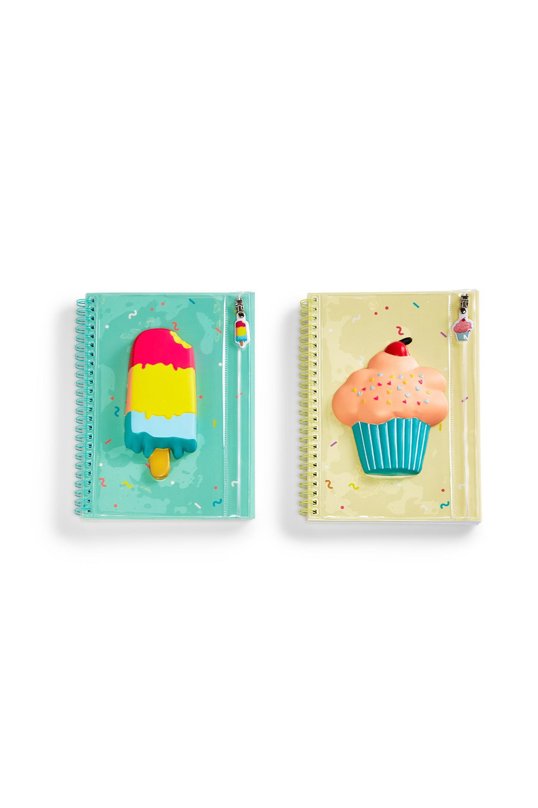 Cupcakes and Cartwheels Sweet Treats Squishable Notebook With Pouch - Front Cropped Image