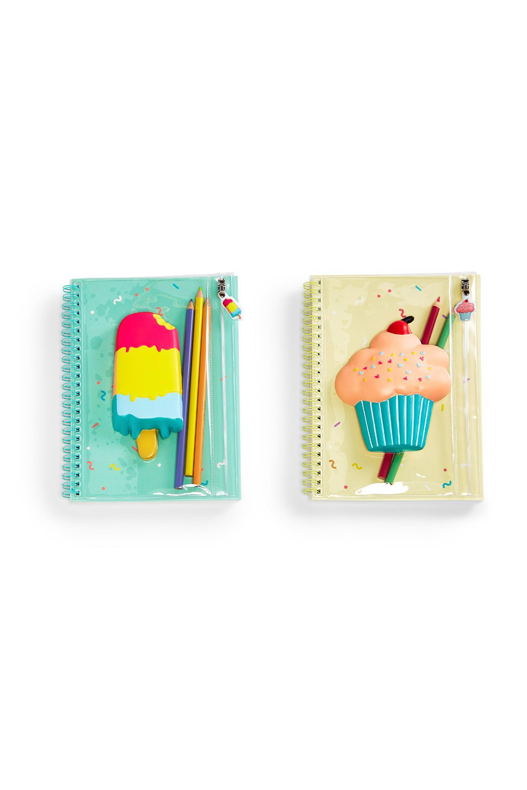 Cupcakes and Cartwheels Sweet Treats Squishable Notebook With Pouch - Front Full Image