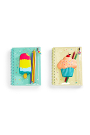 Cupcakes and Cartwheels Sweet Treats Squishable Notebook With Pouch - Front full body