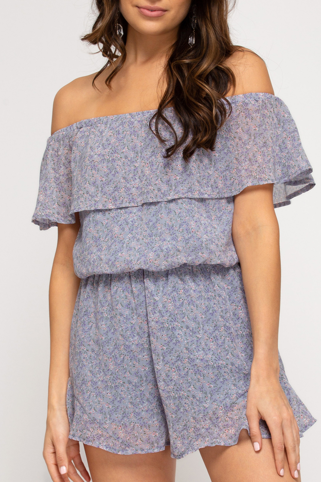 She and Sky Sweet & Trendy romper - Front Cropped Image