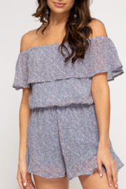 She and Sky Sweet & Trendy romper - Front cropped
