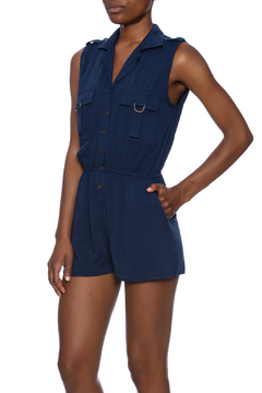 Shoptiques Product: Woven Sleeveless Romper