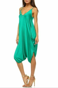 Shoptiques Product: Green Vneck Jumpsuit