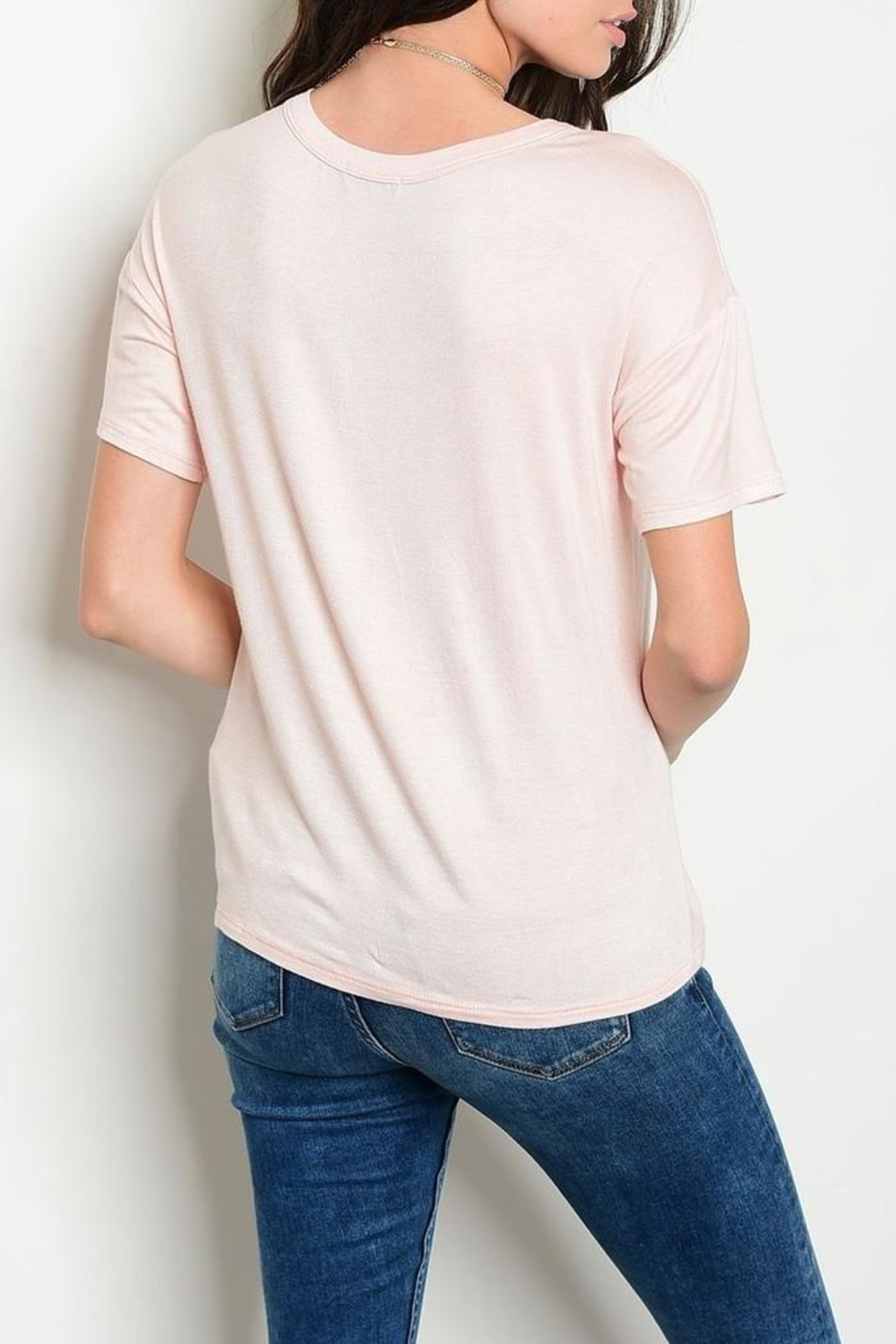 Sweet Claire Blush Bird Tee - Front Full Image