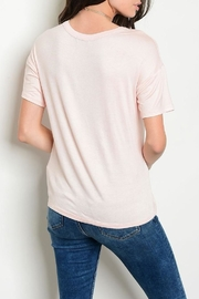 Sweet Claire Blush Bird Tee - Front full body