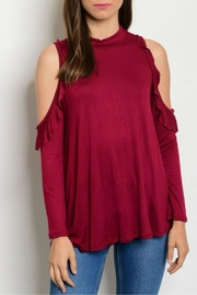 Sweet Claire Burgundy Top - Product Mini Image