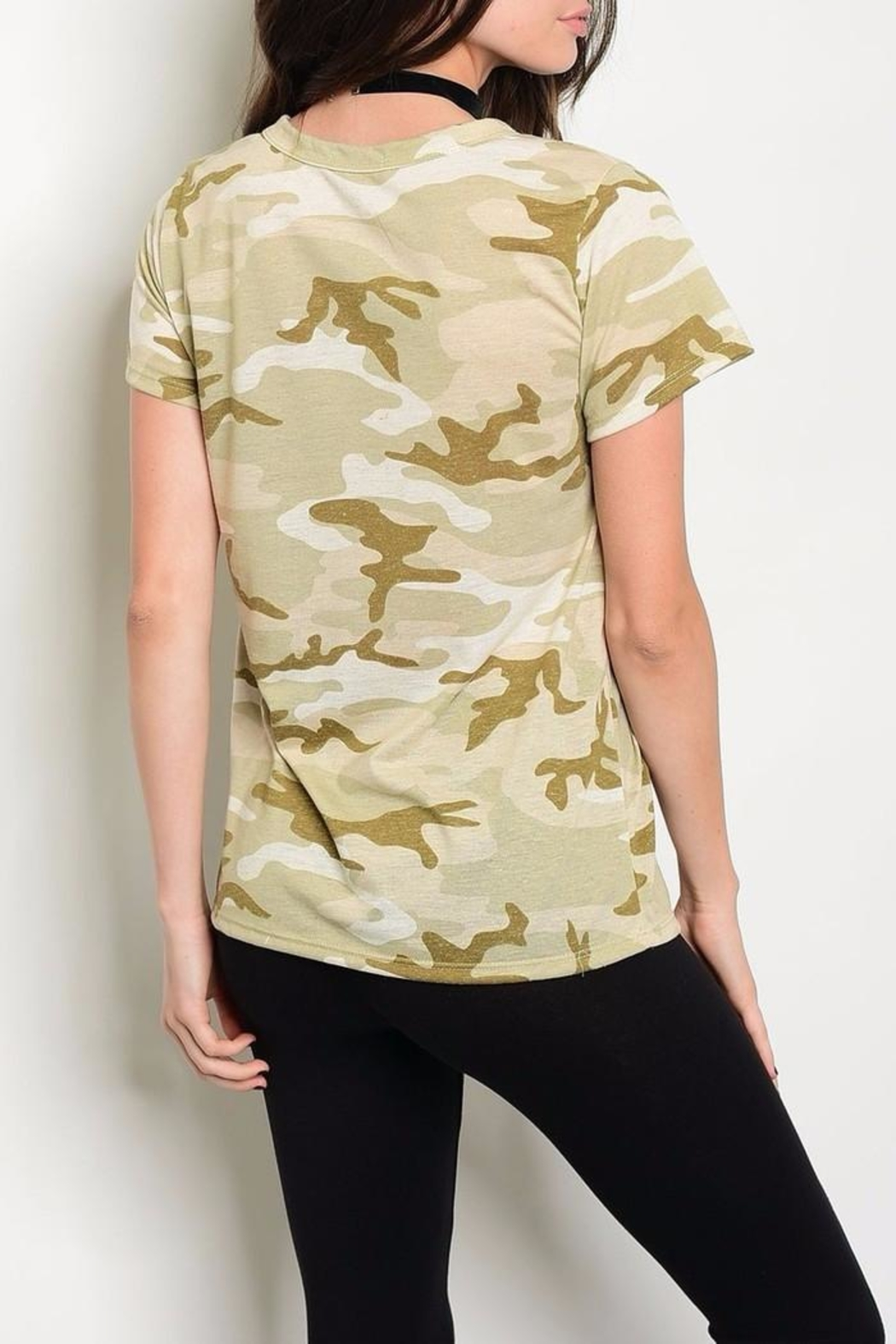 Sweet Claire Camo Tee - Front Full Image