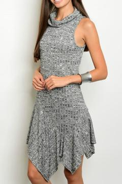 Shoptiques Product: Charcoal Ribbed Dress