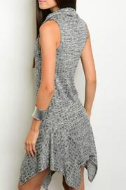 Sweet Claire Charcoal Ribbed Dress - Front full body