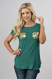 Sweet Claire Clover Grapic Tee - Front cropped