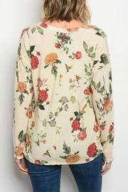 Sweet Claire Cream Floral Top - Front full body