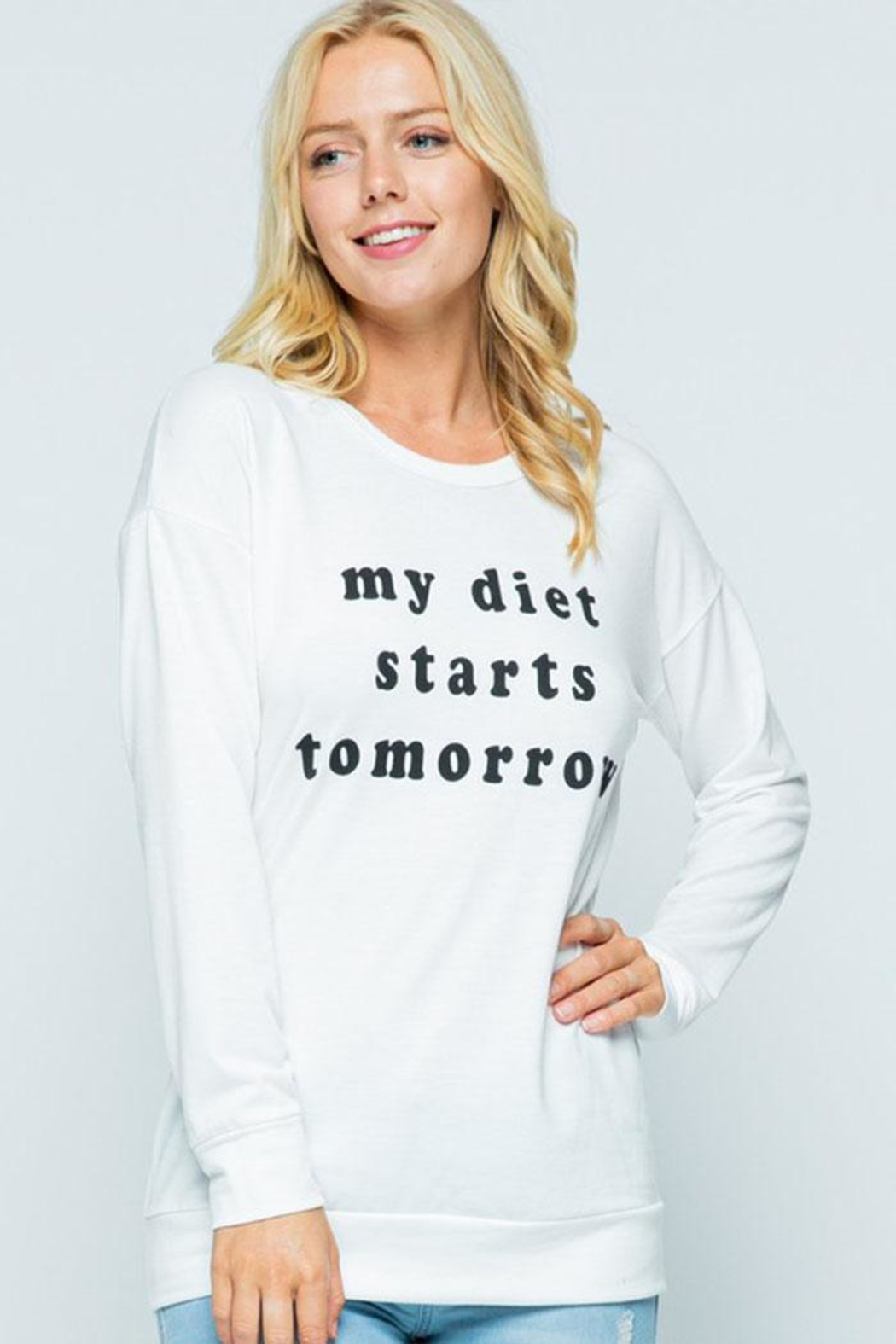 Sweet Claire Diet Graphic Sweatshirt - Front Full Image