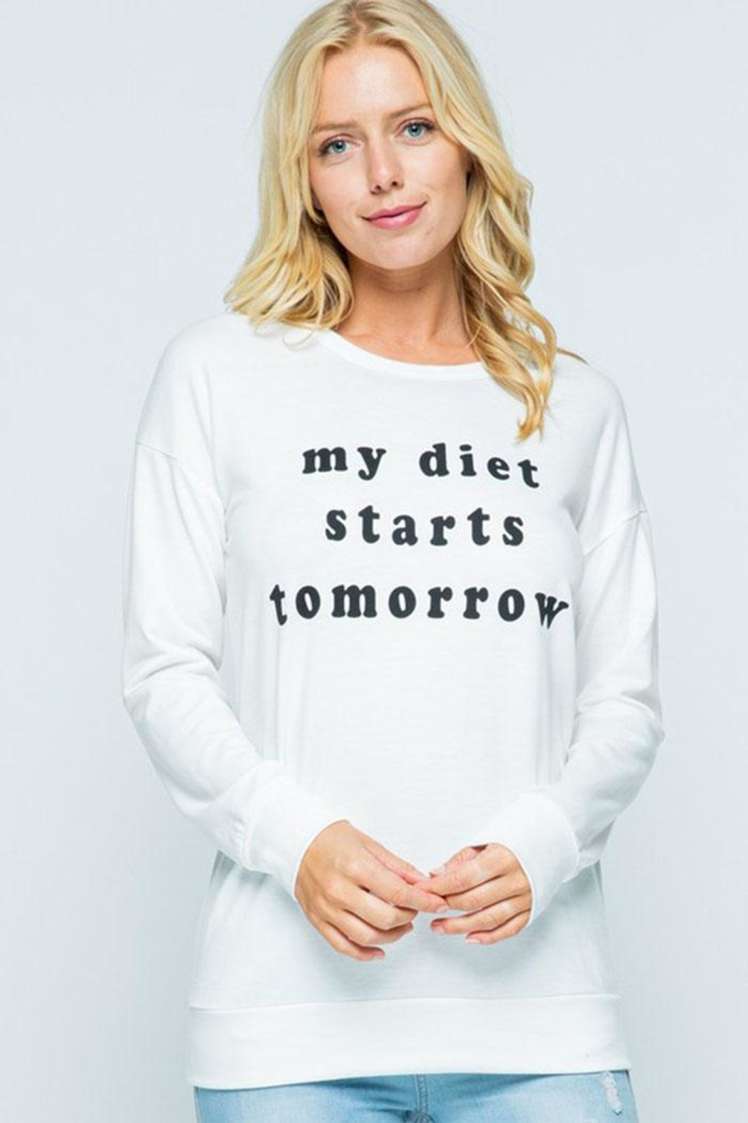 Sweet Claire Diet Graphic Sweatshirt - Front Cropped Image