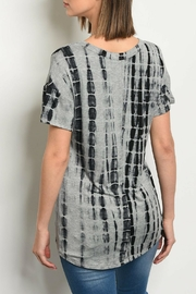 Sweet Claire Gray Tie-Dye Top - Front full body