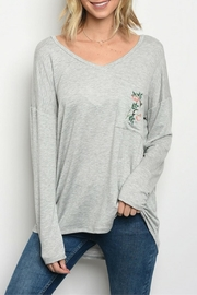 Sweet Claire Heather Grey Top - Product Mini Image