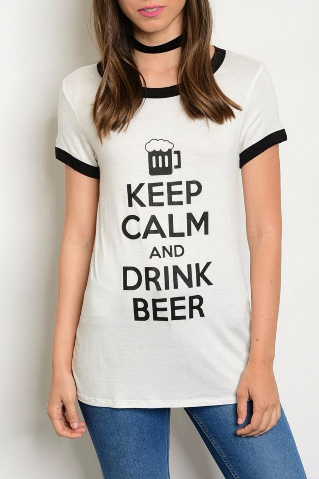 Sweet Claire Keep Calm Tee - Front Cropped Image