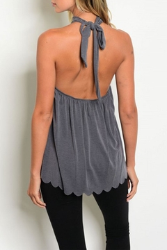 Sweet Claire Keyhole Scallop Top - Alternate List Image