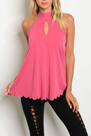 Sweet Claire Keyhole Scallop Top - Product Mini Image