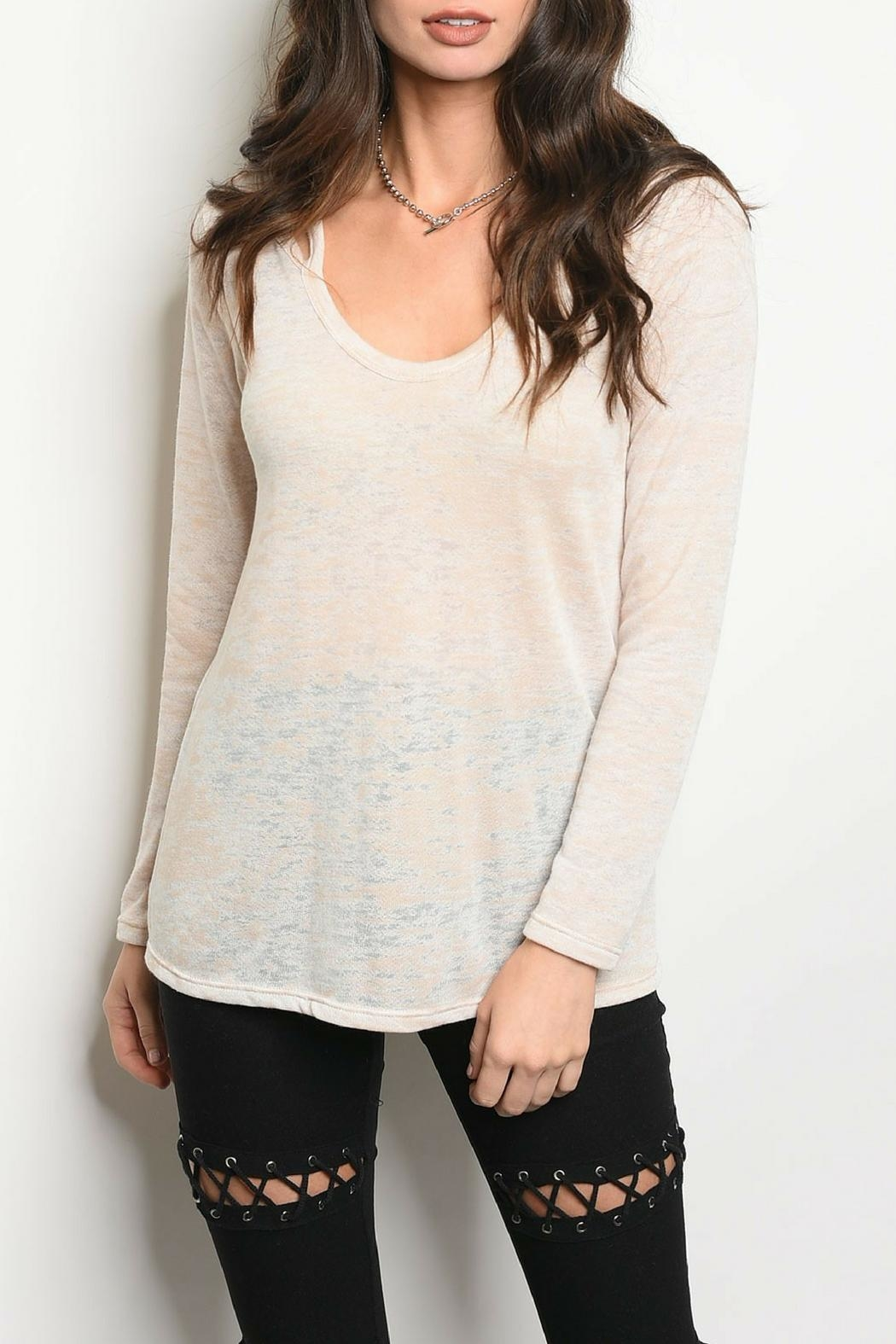 Sweet Claire Lightweight Oatmeal Top - Main Image