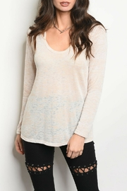 Sweet Claire Lightweight Oatmeal Top - Product Mini Image