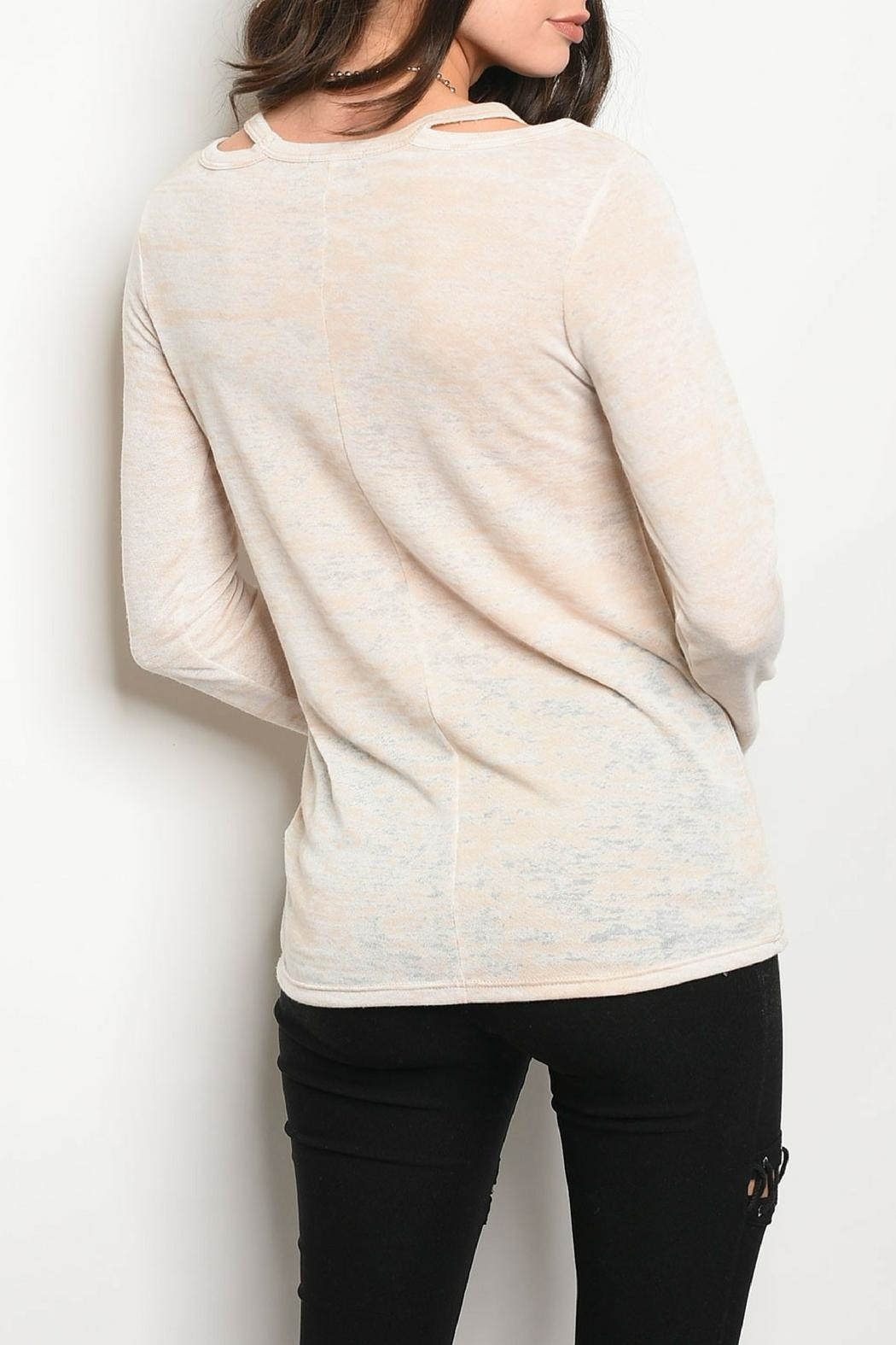 Sweet Claire Lightweight Oatmeal Top - Front Full Image