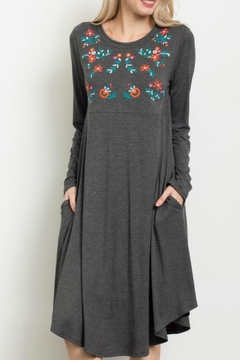 Shoptiques Product: Midi Embroidered Dress