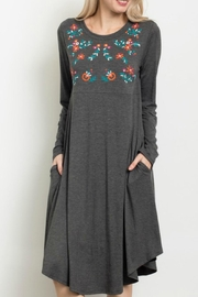 Sweet Claire Midi Embroidered Dress - Product Mini Image