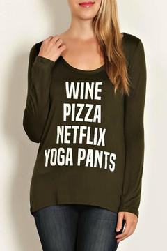 Shoptiques Product: Netflix & Chill Long Sleeves