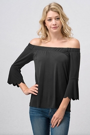 Sweet Claire Off-Shoulder Black Top - Product Mini Image
