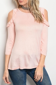 Sweet Claire Pink Ruffle Tee - Product List Image